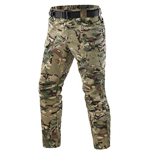 (ShanMo Men's Tactical Pants Combat Camo Military Airsoft Army Quick Dry Trousers Casual Pants I7 (MFN) (CP,)