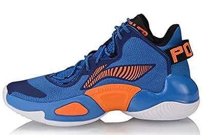 LI-NING CJ McCollum Men Power Ⅵ Professional Basketball Shoes Lining Cushioning Cloud Sport Shoes Sneakers Blue ABAP067-5 US 6.5