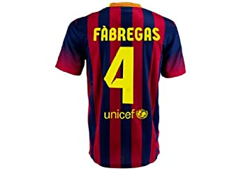 cd6c103a90f Image Unavailable. Image not available for. Colour  Barcelona home football  shirt 2013 2014 FABREGAS (4) Soccer jersey ...