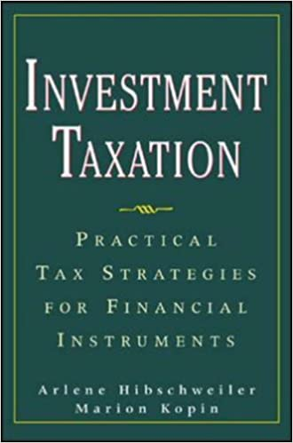 Book Investment Taxation: Practical Tax Strategies for Financial Instruments