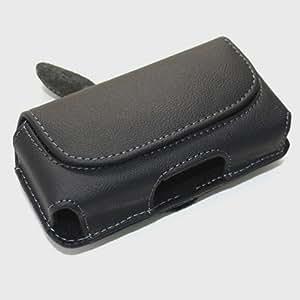 Funda de imitación de cuero para Blackberry Curve 8530 negro