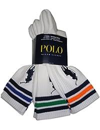 Polo Ralph Lauren Big Pony Technical Sport Crew Socks White Multi (pack of 3)