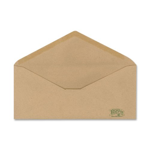 Ampad AMP19702 Envirotech Recycled #10 Natural Brown Envelopes, 500 Per Box