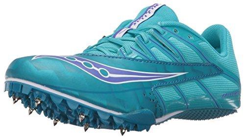 Saucony Women's Spitfire 4 Track Shoe Teal/Blue 9.5 M US [並行輸入品]