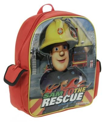 Fireman Sam with Velcro Side Pockets School Bag Rucksack Backpack, Bags Central
