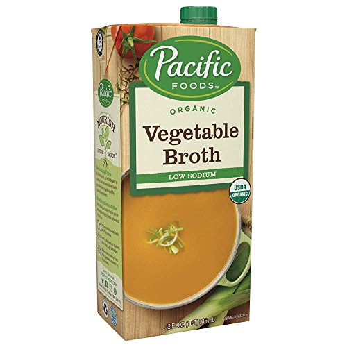 - Pacific Foods Organic Vegetable Broth, Low Sodium, 32oz