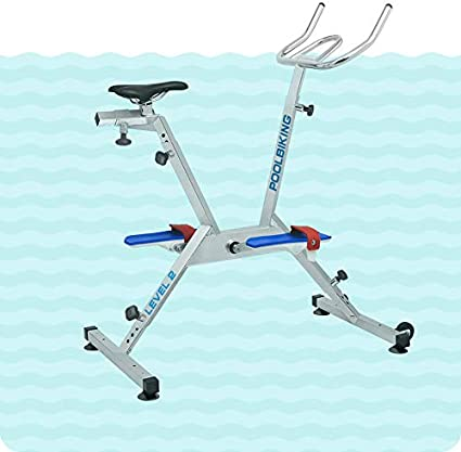 POOLBIKING ONE PLUS - Bicicleta para spinning aquático. Color plateado: Amazon.es: Deportes y aire libre
