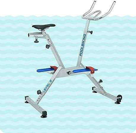 POOLBIKING ONE PLUS - Bicicleta para spinning aquático. Color plateado