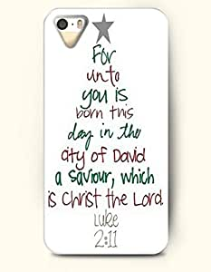 Merry Xmas For Unto You Is Born This Day In The City Of David A Savior, Which A Christ The Lord Luke 2:11 Xmas Tree - OOFIT iPhone 4 4s Case