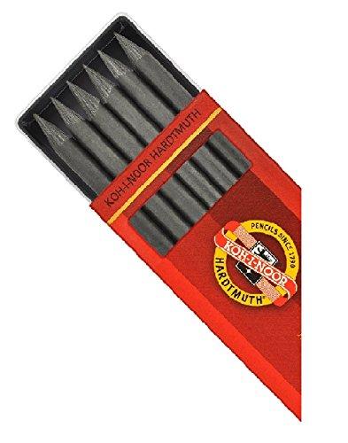 KOH-I-NOOR Graphitmine, Minenstärke 5.6mm, für Druckbleistift in 120mm Länge, Härtegrad 6B