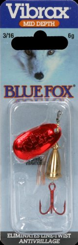 Rapala Blue Fox Bleeding Vibrax (Bleeding Gold, 3/16 oz)