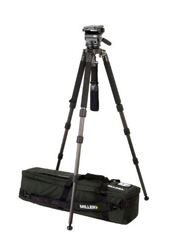 Miller 1793 Arrow 25 Solo ENG-CF Tripod (Black) by Miller Camera Support LLC USA