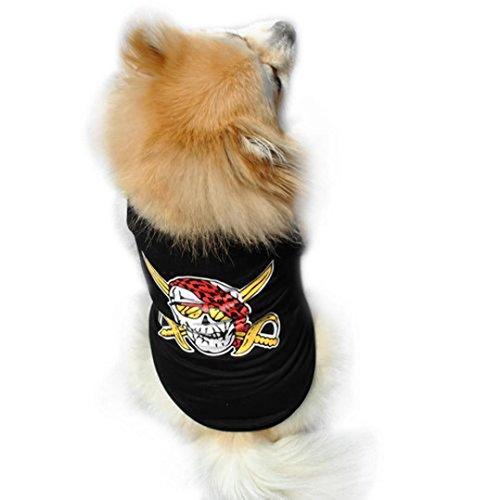 Best Buy! Puppy Clothes,Haoricu Devil Pirate Small Dog Cat Pet Clothing Vest T Shirt Apparel (M)
