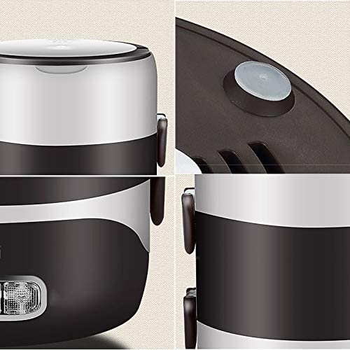 Vakiko 3 Couches 2L Grande capacit/é Cuiseur /électrique Cuiseur en Acier Inoxydable Anti-s/échage Trois Fonctions de Cuisson /à Chaud Chauffage Bo/îte /à Lunch