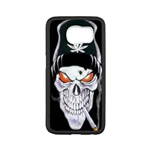 HQYDIY Custom Skull Plastic Case, DIY Skull Hard Cell Phone Case for samsung galaxy s6