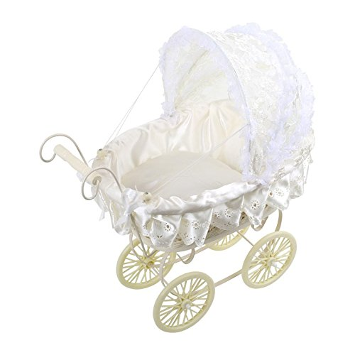 Doll's Pram White with Lace HSL 2020341