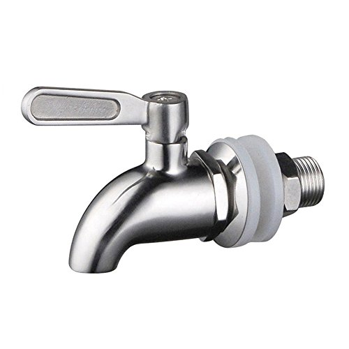(ProMaker Stainless Steel Beverage Dispenser Replacement Faucet Tap Spigot for Homebrew Barrel Fermenter Wine Beer Beverage Juice Dispenser Spigot (Beverage Dispenser))