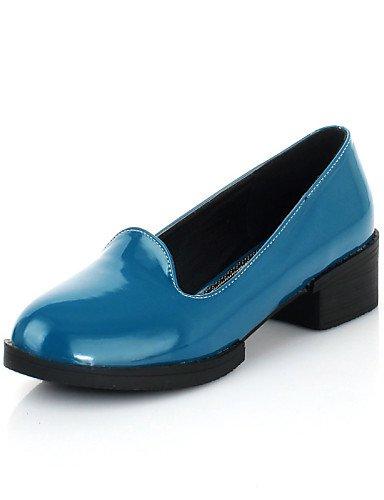 5 de Pdx Flats Piel Oficina Mujer Carrera Redonda Eu38 Sintética casual Cn38 De Punta marrón rosa Y Azul vestido Uk5 Tacón Zapatos Blue Bajo 5 us7 SSdrqAw