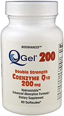 Q-Gel® 200mg Double Strength Hydrosoluble™ CoQ10 (60 Softgels)