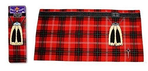 Instakilt Red Scottish Tartan Kilt Towel