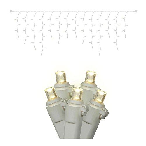 Vickerman 70-Light Wide Angle LED Icicle Light Set, Warm White
