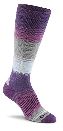FoxRiver Women's Peak Series Chamonix Over-The-Calf Lightweight Ski Socks, Small, Purple