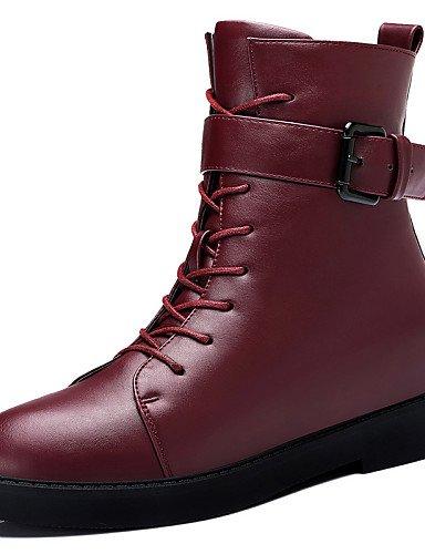 Moto Vestido Eu36 Y Tacón Cn40 Cuña Rojo Red Uk6 Sintético Xzz Casual Zapatos Oficina Mujer Trabajo Nieve Botas us6 5 Uk4 Uk6 Cn36 Negro Black 5 us8 Eu39 De Fqw0AwP