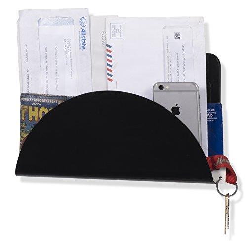 WALLNITURE Hanging Entryway Organizer Mail Holder Metal Black 11 3/4 Inches Long