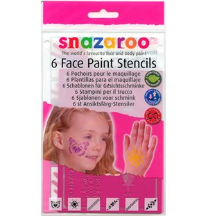 Snazaroo Face Paint Stencils - Girls, Set of 6 ()
