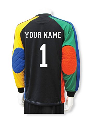 (Soccer Goalkeeper Jersey Customized With Your Name and Number - size Adult XL)