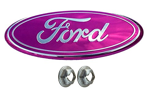 Muzzys FORD 05-14 F150 PINK Grille or Tailgate Emblem WITH NUTS, Oval 9