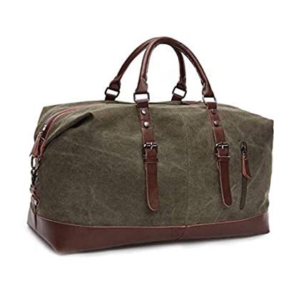 Vintage Men Canvas Travel Duffle Bag Gym Weekend Handbag Shoulder Bag Luggage