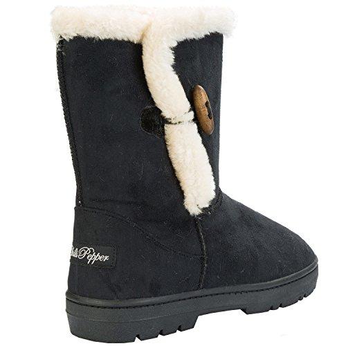 Black Womens Womens Kilburn Toggle Boots - Black - Size : UK3 kUecZ