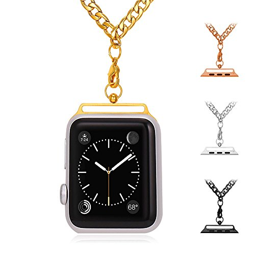 41stOd1DlKL - Necklace for Apple Watch, Bandmax Yellow Gold/Rose Gold/Black Gun Plated Stainless Steel Necklace for Apple Watch Series 1&Series 2