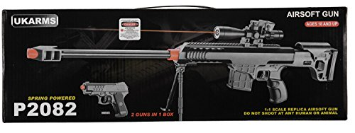 2-IN-1-MINI-AIRSOFT-BB-SPRING-SNIPER-RIFLE-GUN-SIDE-ARM-PISTOL-12-SCALE