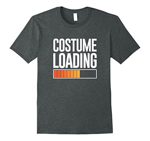 Mens Costume Loading Halloween fun simple October tshirt Small Dark (Simple Halloween Costume Ideas For Men)