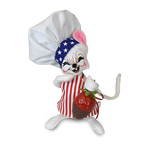 Annalee 6in Stars & Stripes Chef Mouse