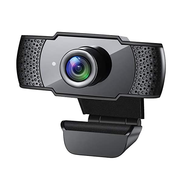 Webcam with Microphone 1080P HD Streaming USB Computer Webcam Plug and Play 30fps for PC Video Conferencing