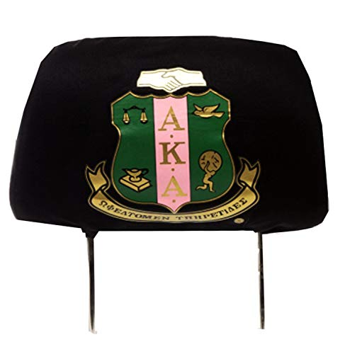 (Nathan J. Alpha Kappa Alpha Sorority Black Car Head Rest Cover(s) (2))