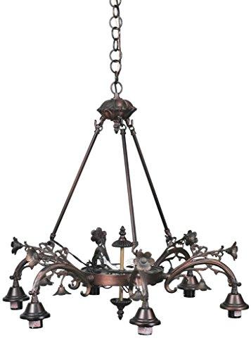 26 Inch W Victorian 6 Arm Chandelier , Ceiling Fixture , Meyda