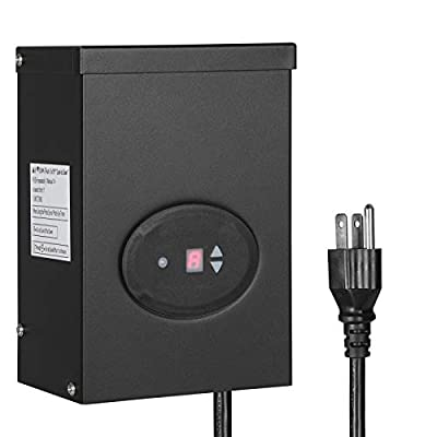 DEWENWILS Outdoor Low Voltage Transformer with Timer and Photocell Light Sensor