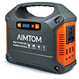 AIMTOM Portable Solar Generator, 42000mAh 155Wh Energy Inverter Supply, Emergency Backup Battery Box