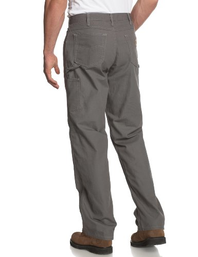 Carhartt Men's Loose Fit Five Pocket Canvas Cleaning Pant-Gray-back