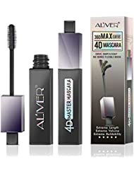 Waterproof Mascara With 180 Degree Flexible Wand Angle Changeable,4d Silk Fiber Eyelash Mascara, Natural Thickening and Lengthening Mascara, Long Lasting Charming Eye Makeup Gift for Girl By Aliver