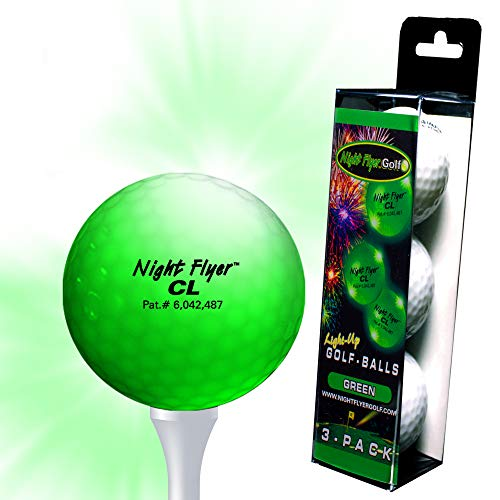 3-Pack LED Light Up Golf Ball (Green) -