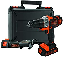 Black+Decker : Perceuse-Visseuse sans fil - 18V - 2 batteries