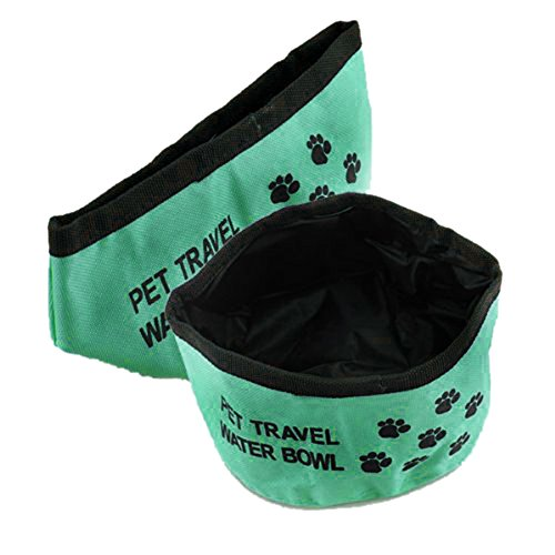 SODIAL(R) Faltbarer Reisenapf Wassernapf Trinknapf Hund Napf Reise futternapf Futternapf 2 Stueck