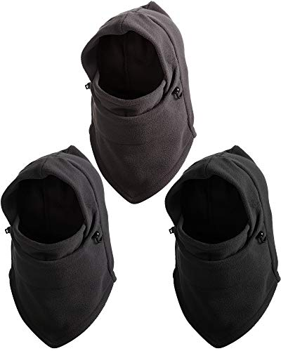3 Pieces Winter Balaclava Hood Warm Face Covering Windproof Ski Full Face Neck Warmer Winter Sports Cap for Adults and…