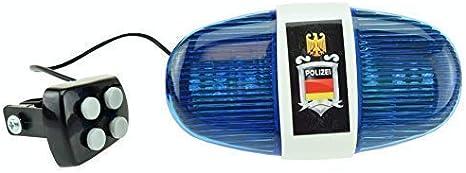 Policía Sirena con 6 LED Blinklicht y 4 Tonos: Amazon.es: Deportes y aire libre
