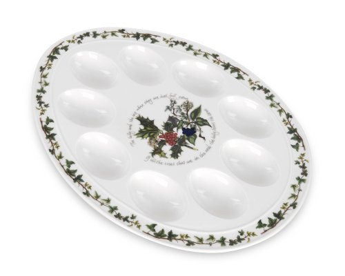 Portmeirion Holly & Ivy Devilled Egg Dish 12'' by Portmeirion (Image #1)
